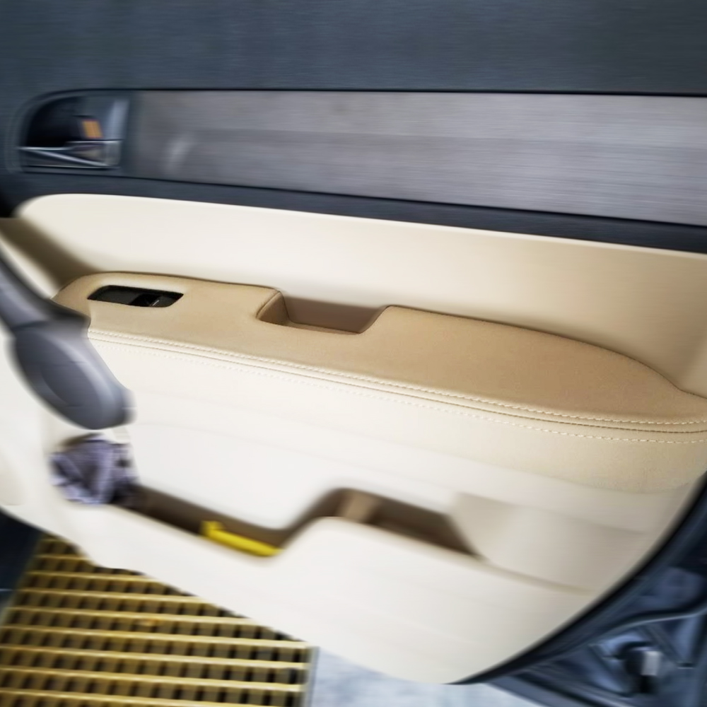 Image 4 - 1 para przód/tylna klapka uchwyt panele podłokietnik skóra z mikrofibry listwa wykończeniowa do Honda CRV 2007 2008 2009 2010 2011 W/armaturaListwy wewnętrzne   -