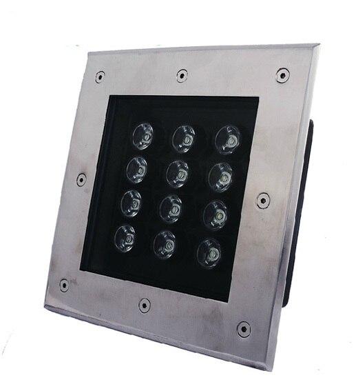 9 Вт квадратный подземный свет открытый/подземные лампа AC85-265V IP67 теплый/холодный белый/красный/зеленый/ синий 2 года гарантии