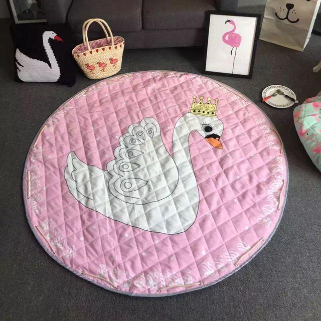 Лебедь получать Игрушка круглый водонепроницаемый коврик пляжный коврик для пикника сумка для хранения одеяло мультфильм ctue муслин пеленать