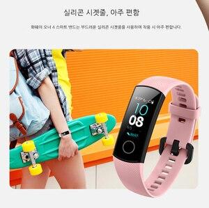 Image 2 - Смарт браслет Huawei Honor Band 4 0,95 цветной Amoled сенсорный экран для плавания 50 м водонепроницаемый датчик пульса и сна