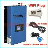 עדכון חדש 1000 W MPPT שמש רשת עניבה מהפך עם תקע wifi 1KW חשמל מהפך + היתר חיישן מגביל 24 v 48 v DC AC 220 V 230 V