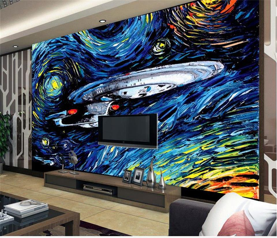 Custom 3d photo wallpaper mural living room wall sticker starry sky spacecraft 3d picture 3d wall mural wallpaper for wall 3d emerson navy seals combat set bdu uniform aor1 mc at marpat woodland em6914
