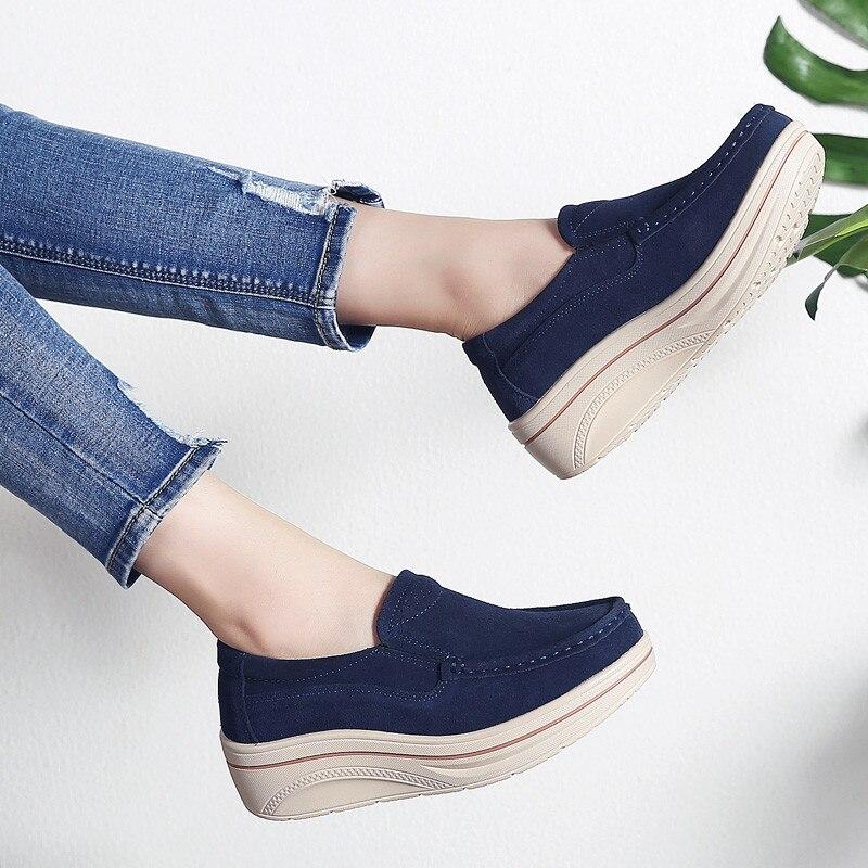 Pinsen Slip Red Cuero Zapatos caqui gris Negro Planos Enredaderas on Mujer  rose rojo Zapatillas Plana De 2019 Gamuza azul Plataforma ... ab1081326e25