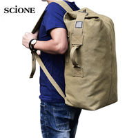 Men Outdoor Bag Luggage Travel Large Army Bucket Backpack Multifunctional Military Canvas Backpacks Sports Shoulder Bags