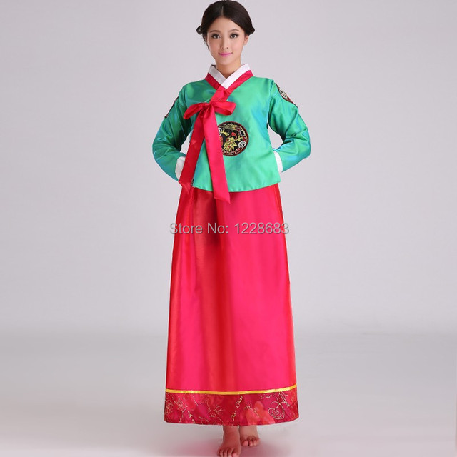 7353e5063b6b New Women Korea Traditional Hanbok Korean National Ccostume Robe ...