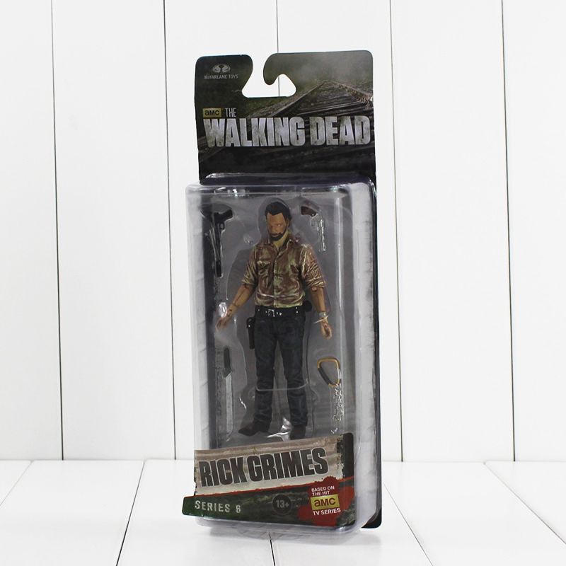 5 13cm NECA The Walking Dead Rick Grimes Figure Toy AMC TV Series PVC Action Figurine Model Collectible Gifts for KIds neca planet of the apes george taylor clothed pvc action figure collection model toy 8 20cm