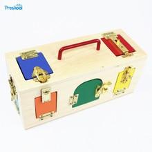 Bébé Jouet Montessori Coloré Serrure Boîte de La Petite Enfance L'éducation Préscolaire Formation Enfants Brinquedos Juguetes