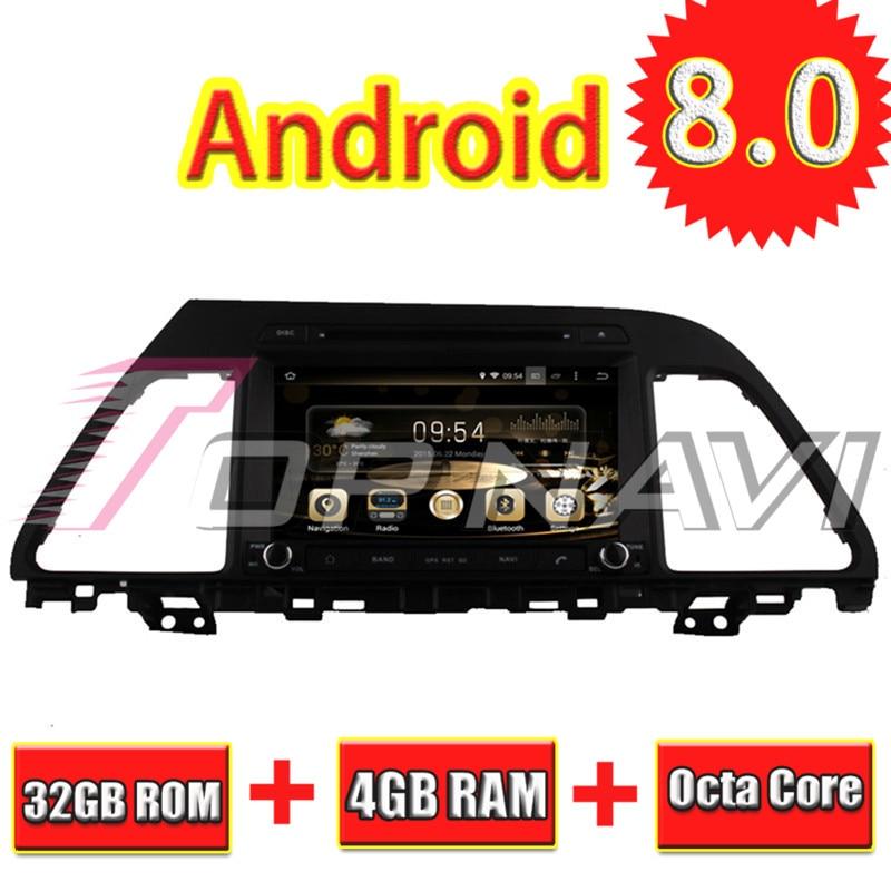 Topnavi 8 ''Octa Core Android 8.0 voiture GPS Navigation pour HYUNDAI SONATA LF 2015-Autoradio DVD multimédia lecteur Audio stéréo