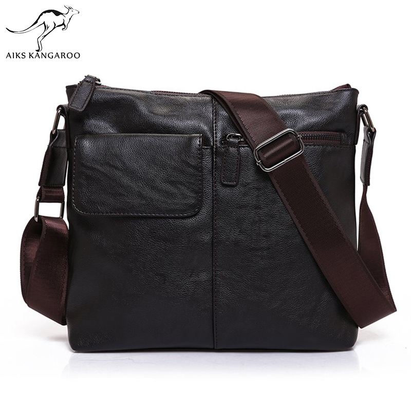 Aiks Kangaroo 2018 Male Messenger Bag Men Shoulder Bag Man Satchels Handbags PU Leather Sling Bags designer Men Crossbody Bags male casual messenger bag men shoulder bag man satchels handbags pu leather sling bag designer men crossbody travel bags li 1948