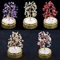 SUNYIK Natural Amethyst Citrine Money Tree Bonsai Tumbled Crystal Lucky Fengshui Healing Decoration 4 Inch