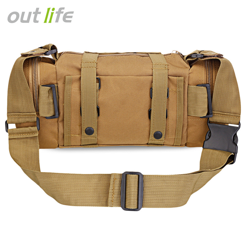 Outlife Multifunctional Outdoor Single Shoulder Bag Tactical Waist Bag Molle Pack Military Rucksack For Hiking Camping Trekking
