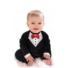 Baby boy suit The latest version of the gentleman Romper Spring climb clothes Infant Toddle Baby jumpsuit clothing