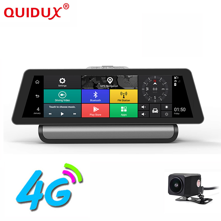 QUIDUX 4G Car Camera GPS 9.88 Android 5.1 Car DVRs WIFI ADAS 1080P Video Recorder Registrar dash cam DVR Parking Monitoring