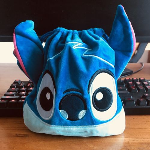 Stitch Head Anime Drawstring Bags Plush Storage Handbags Makeup Bag Coin Purses Unisex NEW