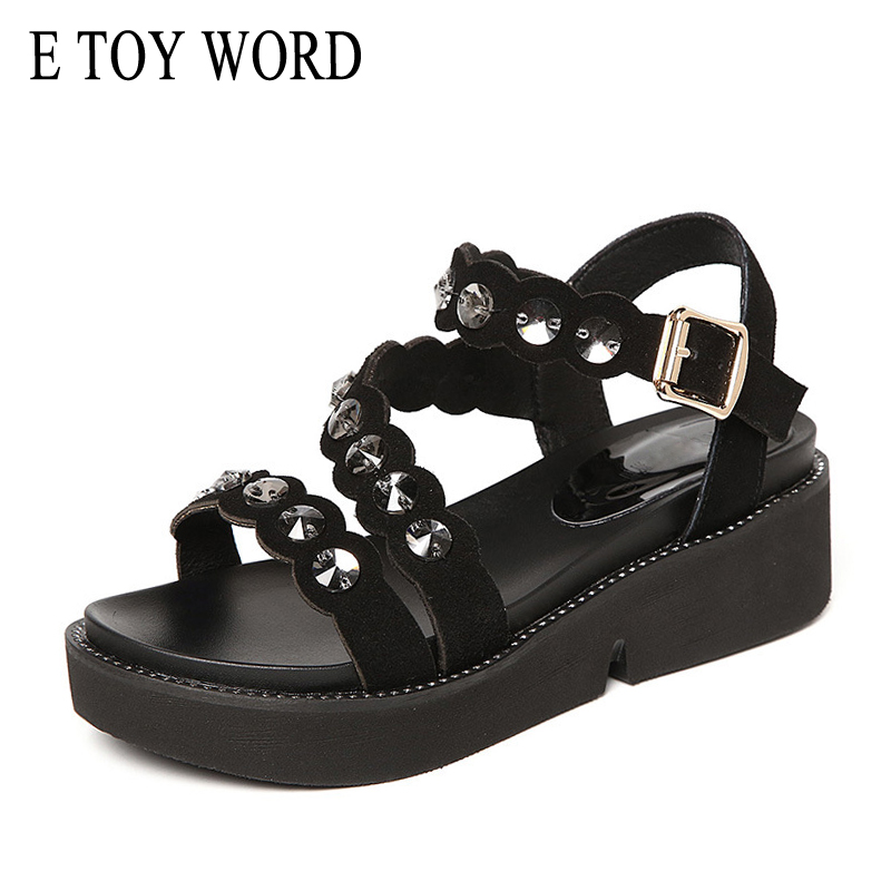 5a52098bbd5ad SpongeBob thick sandals women summer 2018 new wild in the slope with the  students flat-bottom pearl ...