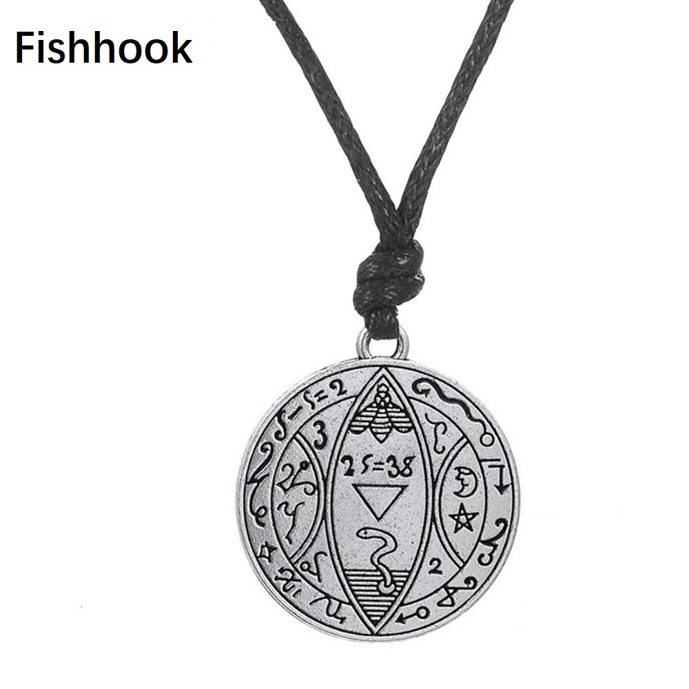 Skillful Knitting And Elegant Design Fishhook Mixed Chain Masculino Coin Medallion Pentagrama Supernatural Jewelry Adjustable Chain Vintage Pendant Viking Jewelry To Be Renowned Both At Home And Abroad For Exquisite Workmanship Jewelry & Accessories