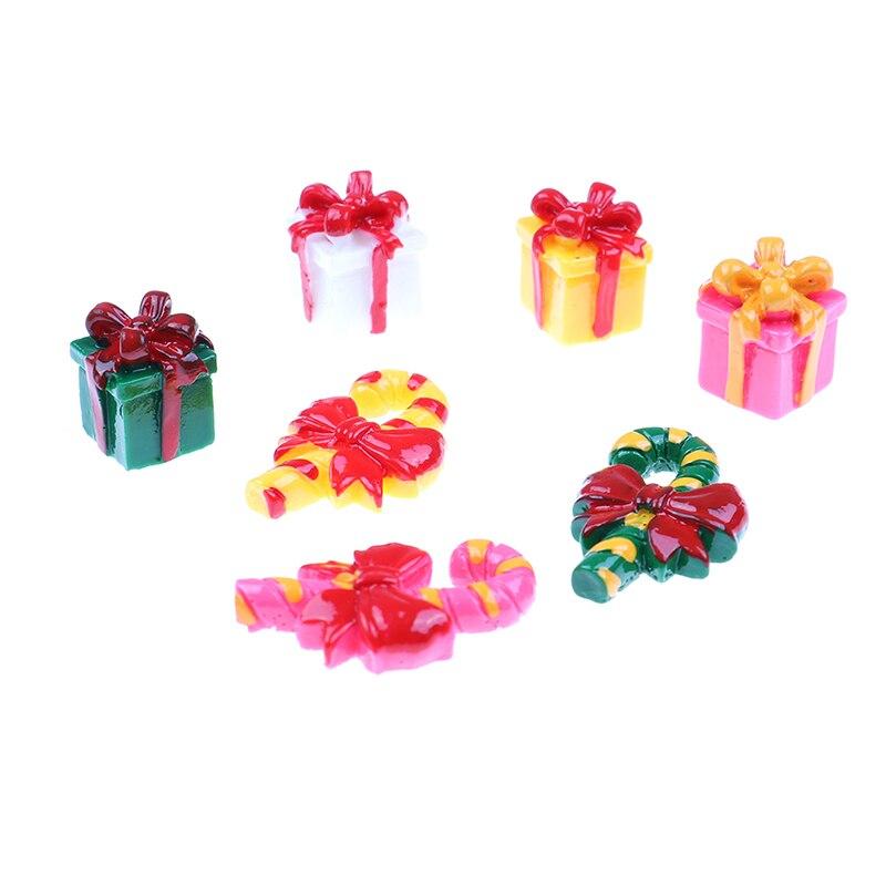 1Set/6PCS DIY Miniature Christmas Tree Mini House Fairy Garden Ornament Craft Decor Home Decoration Accessories