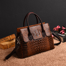 Women Fashion Luxury Brand Designer Crocodile Pattern Handbag PU Leather Large Shoulder Bag Ladies Hand Bags Messenger Bags Tote цена