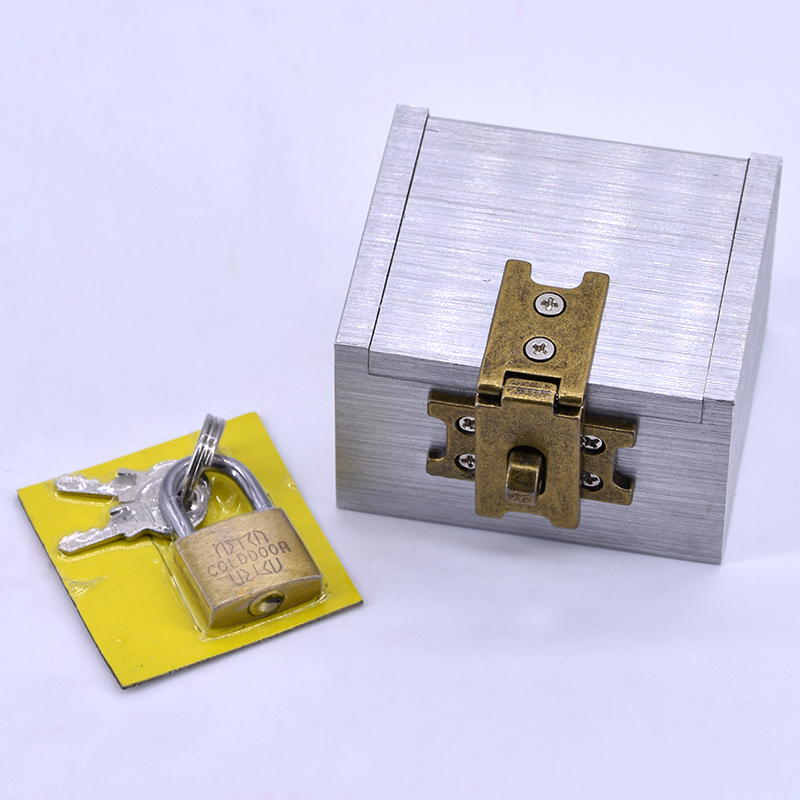 The Strong Box Magic Tricks For Professional Magician Metal Box Appearing/Vanising Magie Close Up Props Gimmick Comedy Mentalism