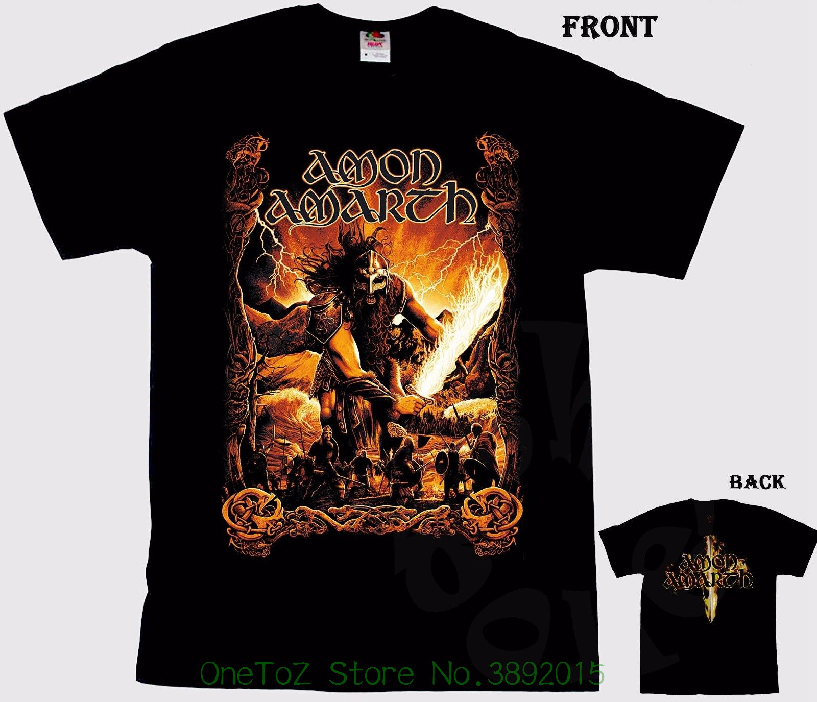 New Fashion Mens Short Sleeve Amon Amarth - Melodic Viking Death Metal Band , T-shirt - S Izes : S To 7xl