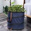 Складная всплывающая корзина для мусора с листьями  сумка для хранения мусора  новые мешки для уборки сада и газона