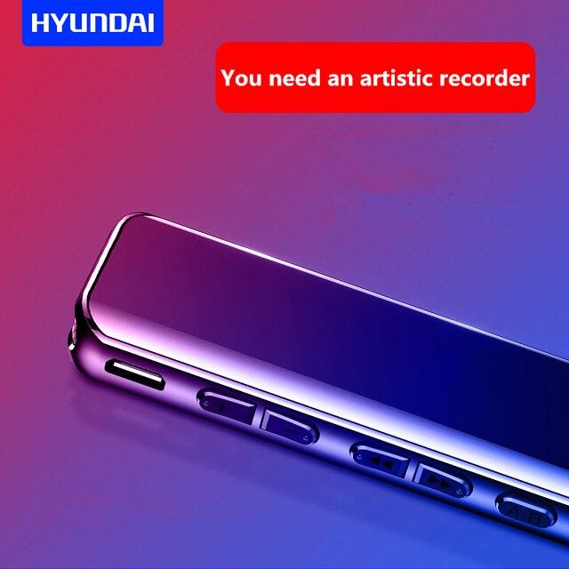 Hyundai K609 8G enregistreur vocal audio numérique professionnel réduction du bruit activée par la voix enregistrement Dictaphone avec lecteur MP3