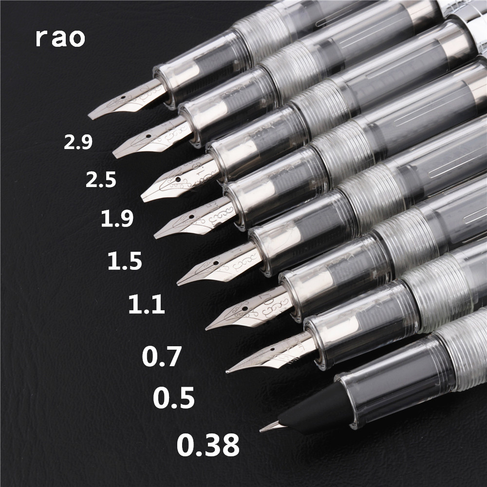 New Luxury quality 0.38mm Transparent white school office Fountain Pen