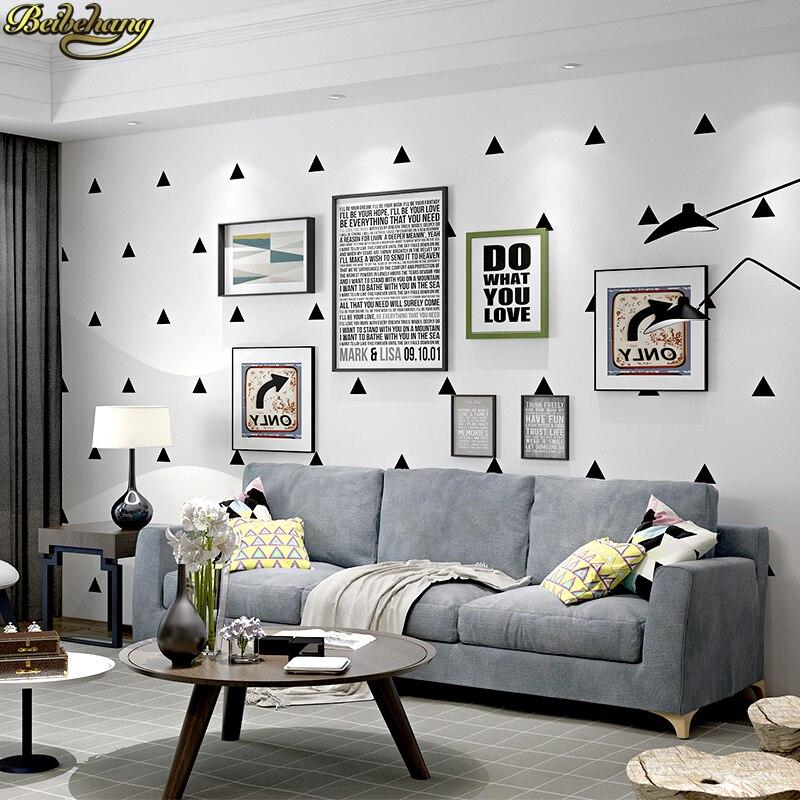 minimalist geometric nordic triangle background modern living bedroom tv beibehang wallpapers