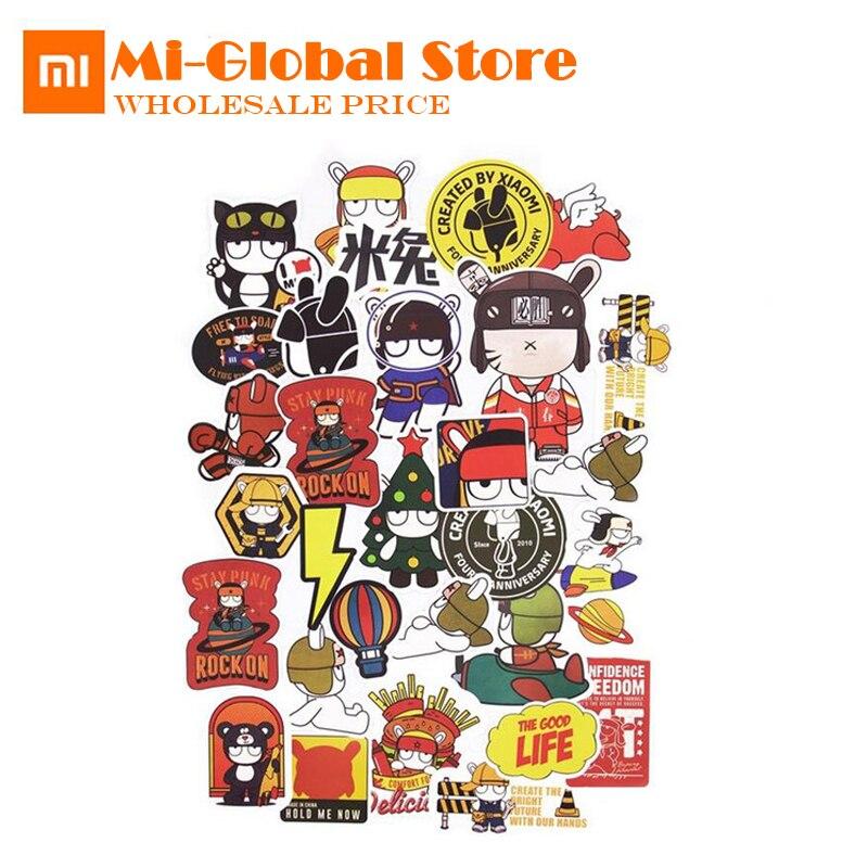 Xiaomi Mitu stickers 15pcs/set Creative Cartoon mitu Rabbit PVC DIY Decor Stickers For Laptop Phones lovely gift