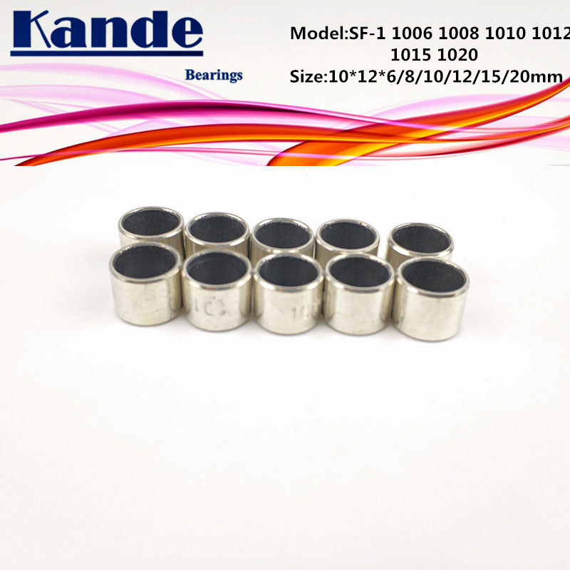 SF-1 1006 1008 1010 1012 1015 1020 Self Lubricating Composite Sleeve Size 10*12*6  8 10 12 15mm  SF1 Kande Bearings SF-1 1006 1008 1010 1012 1015 1020 Self Lubricating Composite Sleeve Size 10*12*6  8 10 12 15mm  SF1 Kande Bearings