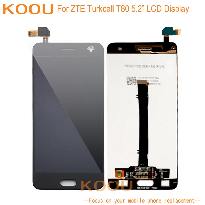 LCD Display For ZTE Turkcell T80 Touch Screen Digitizer Assembly Replacement