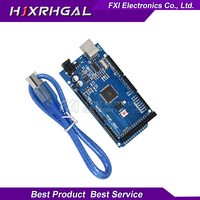 1pcs MEGA 2560 R3 ATmega2560 AVR USB Board Free USB Cable ATMEGA2560 CH340 Funduino 2560 New