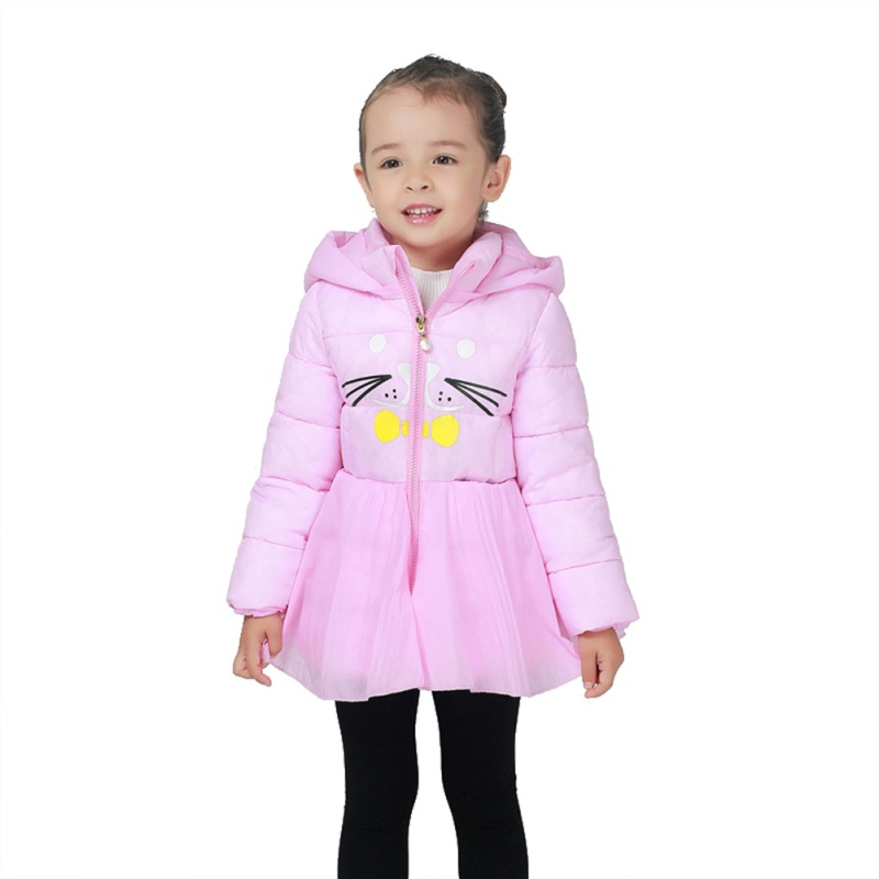2017 Autumn Winter High Quality Baby Girls Coat Kids Children Warm Outerwear Coats Girls Clothes 1~6 Y 2017 winter baby coat kids warm cotton outerwear coats baby clothes infants children outdoors sleeping bag zl910