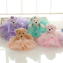 Marriage gift item reviews online shopping marriage gift item new 40pieceslot 25cm big marriage gauze bear plush doll toy furnishing articles childrens gift negle Images