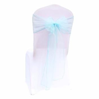 100ピースオーガンザ結婚式椅子装飾椅子サッシ結び目椅子弓カバー用ウェディングパーティーイベントバンケットの装飾送料無料1