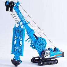 Caminhão hidráulico kdw da garra da máquina do entalhe da liga 1:64 modelo do veículo da engenharia crianças equipamento mecânico da parede subterrânea brinquedos