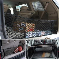 110 40cm Rear Trunk 4 Loops Double Layers Envelope Style Cargo Net Sundries Storage Bag