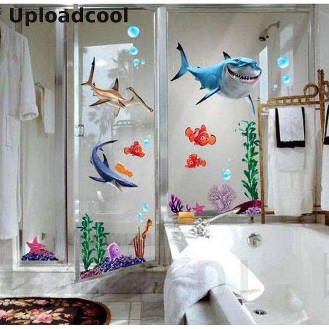 Uploadcool _ Creative NEMO Fish Bottom Cartoon Nemo Bath Wall Sticker Removable Newly Decorated Kid's Room