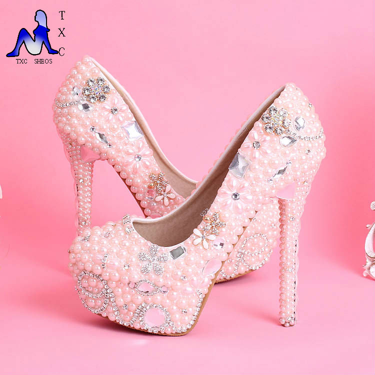 Online Buy Wholesale pink rhinestone heels from China pink ...