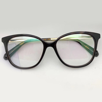 Acetate mix Alloy Glasses Frame Luxury Brand Classic Cat Eye Eye Glasses Opitical with Original Box Provide Custom Function Lens