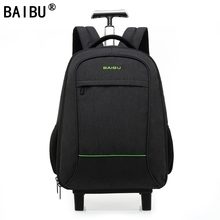 BAIBU High Quality Waterproof Travel Trolley Backpack Luggage Bags Wheeled Carry-ons Bags Large Capacity Trolley Bags for Laptop