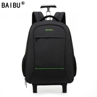 BAIBU High Quality Waterproof Travel Trolley Backpack Luggage Bags Wheeled Carry ons Bags Large Capacity Trolley Bags for Laptop