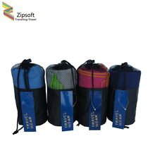 Zipsoft Beach Towels With Bag Gym Sports Square wraps Mat for Adults Swimming pool Travel Camping Hair Quick Dry Sports Washrag