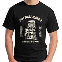 New Hattori Hanzo Short Sleeve Black Men's T-Shirt Size S-3XL Top Tee for Sale Natural Cotton T Shirts Light Plus Size