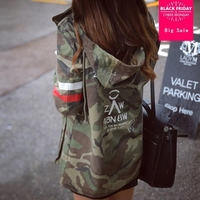 Jacket Women 2017 New Arrival Female Army Green Printed Camouflage Jacket Chaquetas Mujer Fall Jackets For Women Coat W489