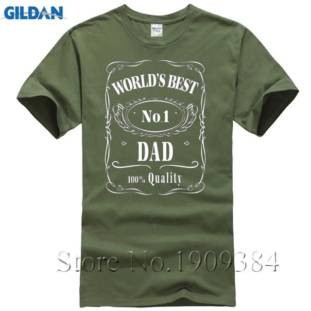 Fathers Day T Shirt Worlds Best Dad Papa Birthday Gift Daddy Present Pappa Mens