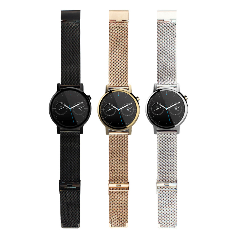 Excellent Quality Mens Milanese Stainless Steel Watch Band Strap for Motorola Moto 360 2nd 42mm