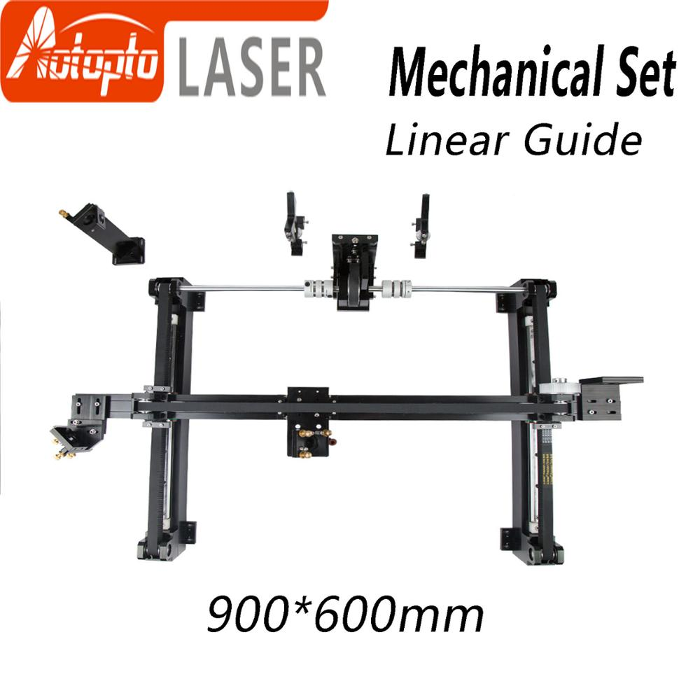 Mechanical Parts Set 900*600mm Linear guide Kits Spare Parts for DIY 9060 CO2 Laser Engraving Cutting Machine