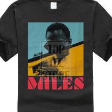dda0dbb4a Pixels Da Imagem de Miles Davis Camisa Preta de T Novo Oficial de Música  Jazz Adulto