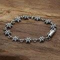 Alta calidad hexagrama pin Real 925 plata esterlina mujeres brazalete de la pulsera de la amistad loom bandas de plata 925 joyería de moda GB53